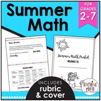 Common Core Summer FUN NO PREP Math Activities