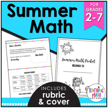 Summer NO PREP Math Activities Packet FREEBIE by Kelly McCown | TpT