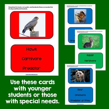 Science & Language Arts:  Predator & Prey Game