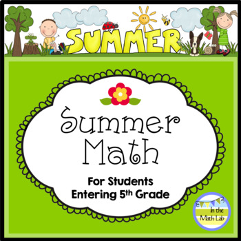 Summer Math - 4th Graders Going to 5th