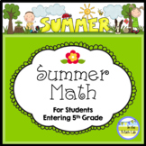 Math Distance Learning | Summer Packet 4th Graders Going to 5th