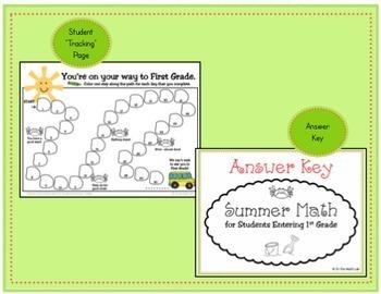 Summer Math - Kindergarteners Going to 1st