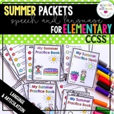 Common Core Summer Packets for Speech and Language