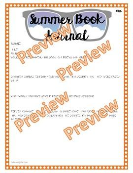 Common Core Summer Reading Activities