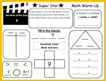 Common Core Super Star Math Warms-Ups