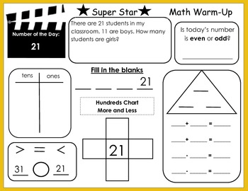 Common Core Super Star Math Warms-Ups