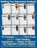 Common Core Superhero Passages {Close Reading, Homework, A