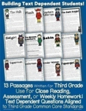 Superhero Close Reading Passages Homework Assessment & More Common Core Aligned