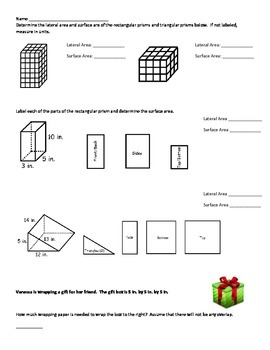 Common Core Surface Area and Volume
