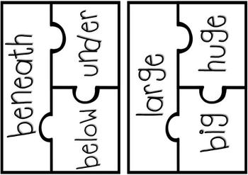 Common Core Synonym, Antonym & Homophone Puzzles!
