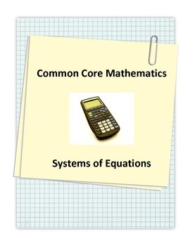 Common Core Systems of Equations