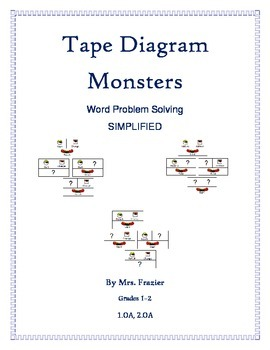 Common Core Tape Diagram Monsters - Word Problems Simplified 1st & 2nd Gr