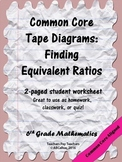 Equivalent Ratios: Finding Equivalent Ratios Using Tape Diagrams