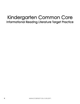 Common Core - Target Practice - Informational  Grade K by Classroom Couture