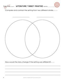 Common Core - Target Practice - Literature 3rd Grade