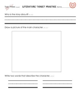 Common Core - Target Practice - Literature  Grade K by Classroom Couture
