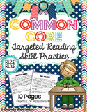 Common Core Targeted Reading Skill Practice RI.2.2 & RI.3.2