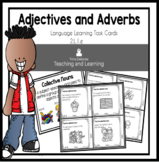 Adjectives and Adverbs Task Cards for Second Grade