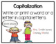 Capitalization Task Cards  2.L.2.a