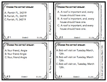 Commas Task Cards  2.L.2.b