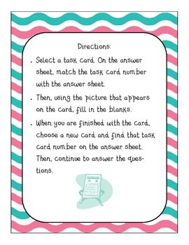 Common Core Task Cards! 3rd Grade! Operations and Algebraic Thinking!