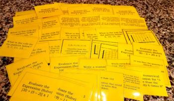 Common Core Task Cards 5th Grade