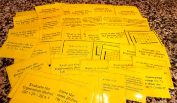 Common Core Math Review, 156 Task Cards with answer key!