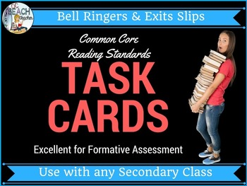Common Core Task Cards:  Formative Assessment for Reading