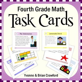 Math Task Cards - Fourth Grade Math Common Core - All Math