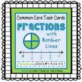 Common Core Task Cards {Fractions with Number Lines} Third Grade