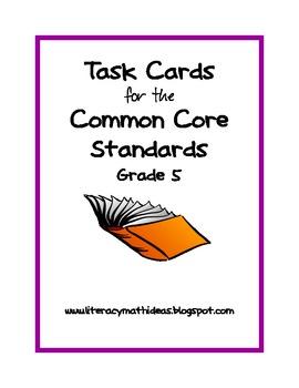 Common Core Task Cards:  Grade 5