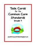 Common Core Task Cards:  Grade 7