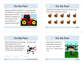 Math Task Cards - Kindergarten Math Common Core - All Math Standards Covered