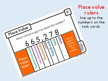 Common Core Task Cards {Place Value} Fourth Grade - 4.NBT.A