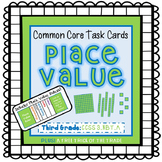 Common Core Task Cards {Place Value} Third Grade - 3.NBT.A