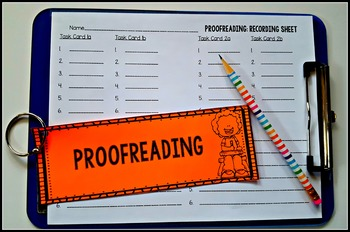 Proofreading Task Cards (Common Core Grades 3-5)