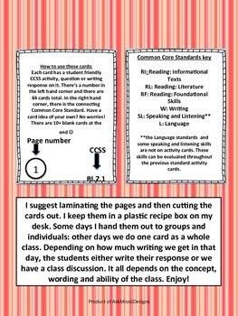 Common Core Task Cards: Second Grade English and Language Arts