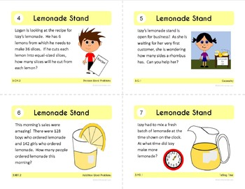 Math Task Cards - Third Grade Math Common Core - All Math Standards Covered