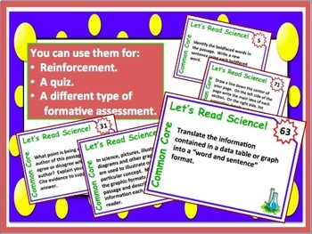 Science Reading Task Cards