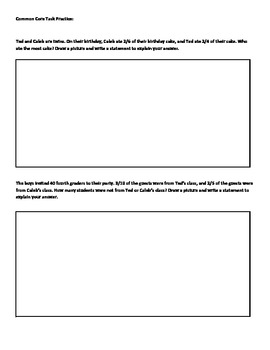 Common Core Task Practice Worksheet
