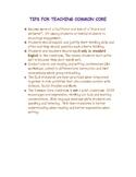Common Core Teaching Tips
