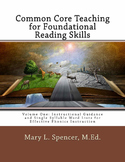 Common Core Teaching for Foundational Reading Skills - Book