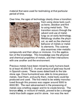 Common Core Technology: Ancient Technology