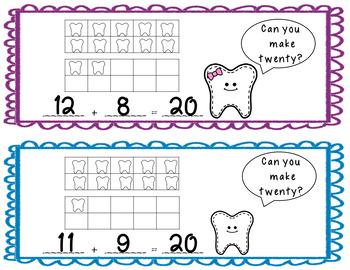 Teeth Additon Ten Frame Task Cards