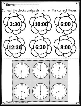 Telling time to the hour and half hour First Grade