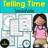 Telling time to the hour and half hour-Telling Time Worksheets