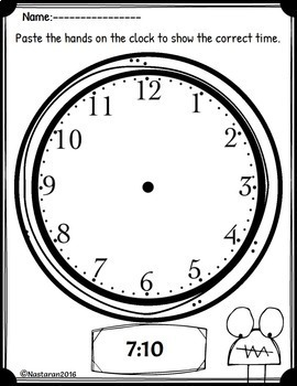 Telling Time To The Nearest 5 Minutes Worksheets