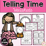 Telling Time To The 5 Minutes Worksheets