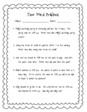 Common Core Telling Time Word Problems with Unknowns