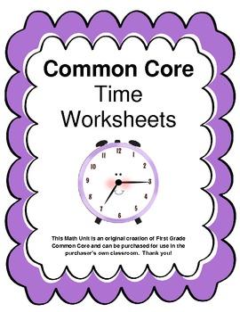 1st Grade Common Core Math ... by Jane Keller | Teachers ...  |Common Core Time Worksheets